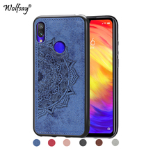 Xiaomi Redmi 7 Luxury Shockproof Soft TPU Silicone Cloth Texture Hard Phone Bumper For Cover Shell