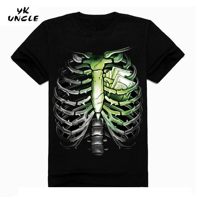 Hip Hop T shirt Men Tshirt T-shirt 3D Sickle Skulls Motorcycle Shackle Printed Casual-shirt Mens Casual Clothes Tee 3XL,YK UNCLE 2