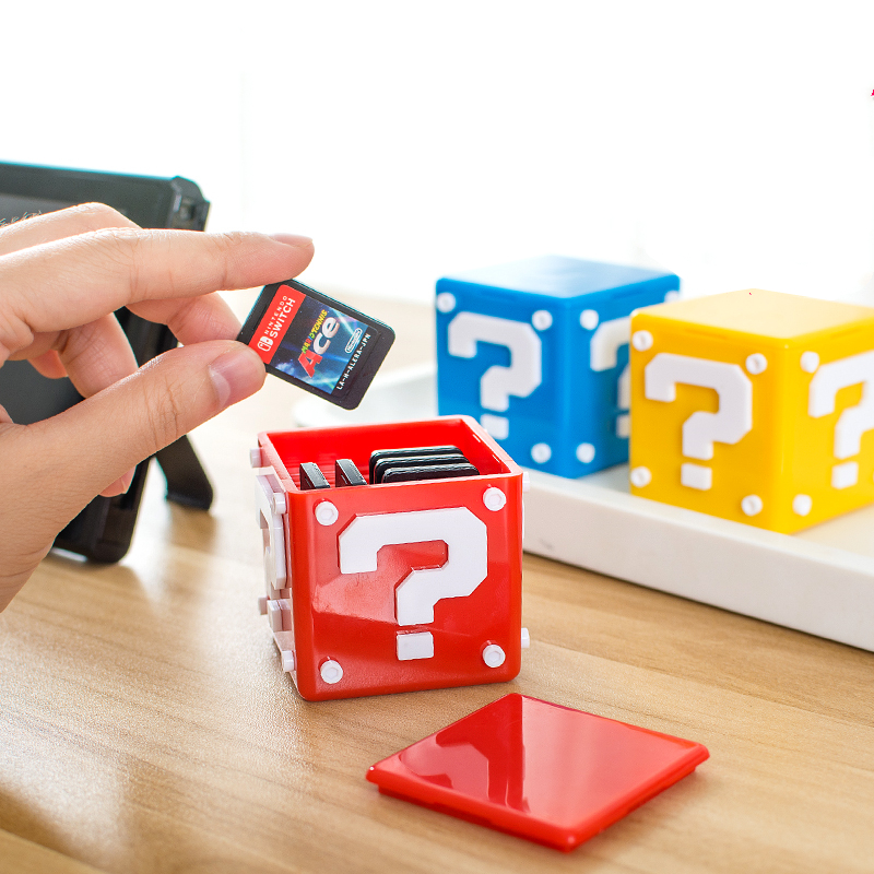 Question Box For NS Switch Game Card TF Storage Tape Collection Case Portable Receiving Mario Mmooth Shell Accessories