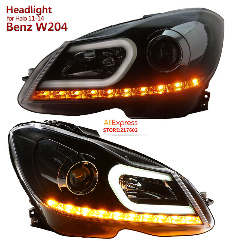 SONAR Brand For Mercedes Benz C Class W204 C180 C200 C260 LED Headlights 2011 2014 Year