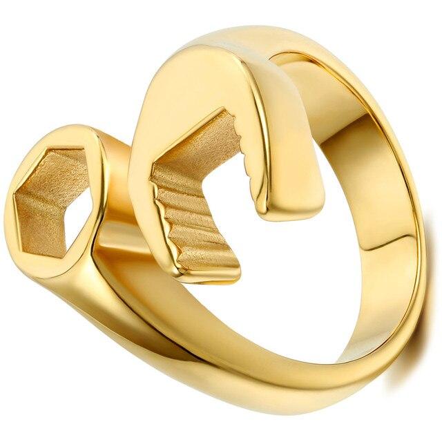 Фото мужские винтажные кольца крутые байкерские механический ключ
