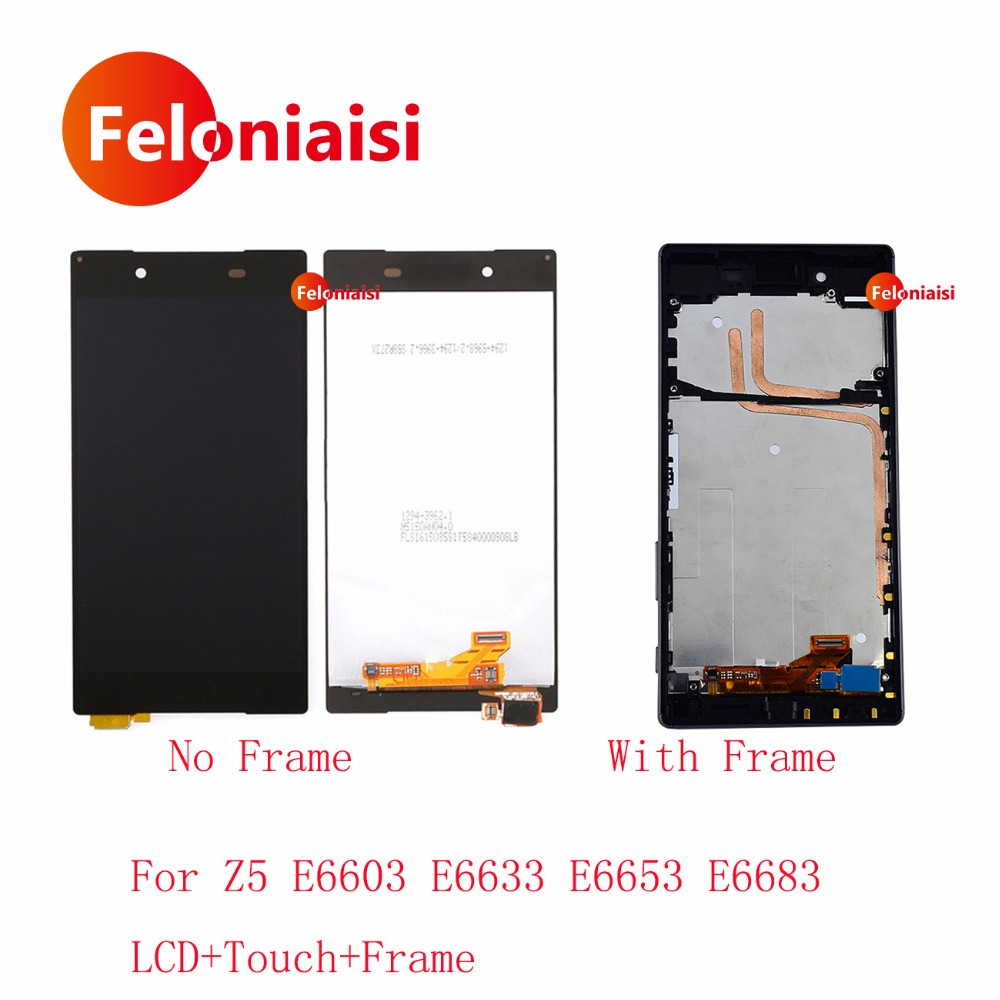 AAA Good 5.2 For Sony Xperia Z5 E6603 E6633 E6653 E6683 Lcd Display With Touch Screen Digitizer Panel Assembly Complete Frame
