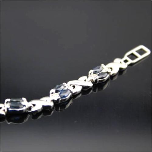 Qi Xuan_Free темно-синий камень элегантные Bracelets_S925 чистого серебра модные Bracelets_Manufacturer прямые продажи