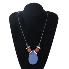 Match-Right Women Sweater Necklaces & Pendants Statement Long Costume Necklace with Water Drop Pendant for Women Jewelry SP092