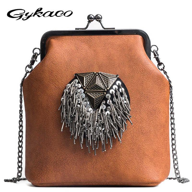 bb90448c0c Gykaeo 2018 New Female Fashion Small Shoulder Bag Luxury Handbags Women Bags  Designer Chains Messenger Bag