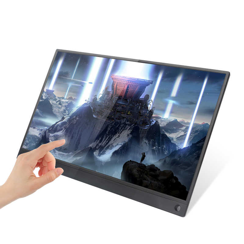 15.6 inch Portable Monitor 1920x1080 HD IPS Display Computer LED Monitor with Leather Case for PS4/Xbox/Phone