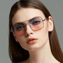 Ou Mo brand polarized Sunglasses Women/Men Reflective For Women Men flat lens sun glasses square zonnebril dames UV400
