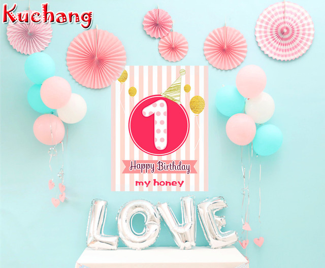 18pcs Lot Baby Shower Pink Blue Crown Foil Balloon Happy Birthday
