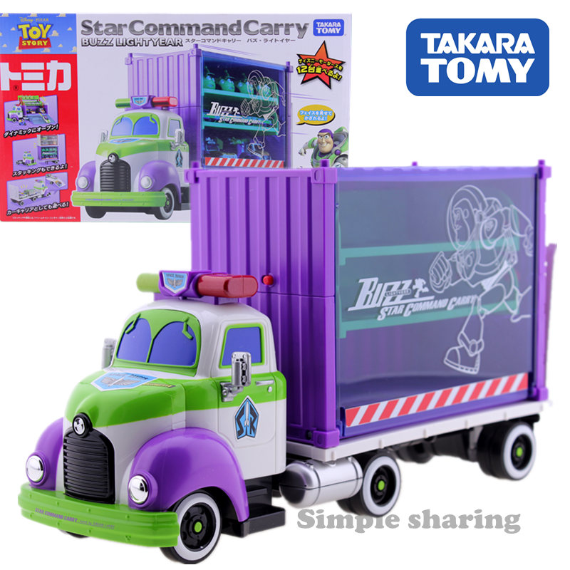 Takara Tomy Tomica Disney Toy Story Buzz Lightyear Star Command Carry Container Truck Vehicle Model Gift