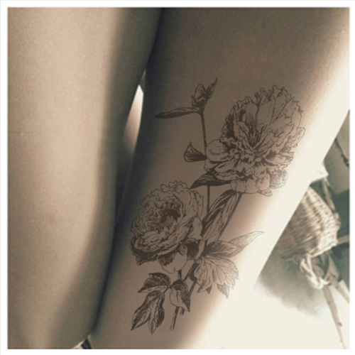 Princess sweet lolita pantyhosePrinted retro hand-painted flowers rose tattoo filar pantyhose LKW83