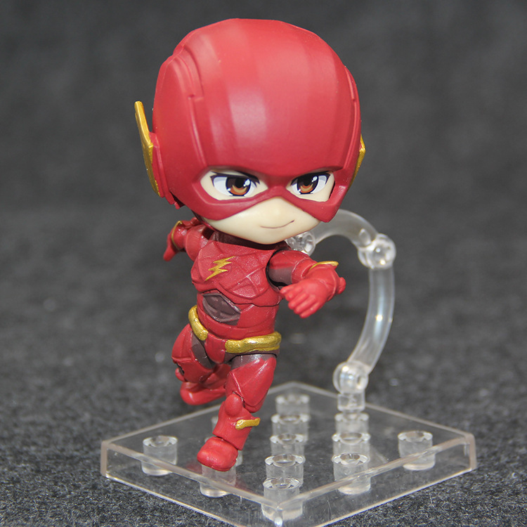 Cute Nendoroid Figures DC COMICS Justice League The Flash 917 PVC Action Figure Collectible Model Kids Toys Doll 10CM image