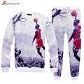 Sportlover Новое прибытие мужчины/женщины 3D печати Иордании/Кобе/Карри crewneck кофты jogger брюки костюм