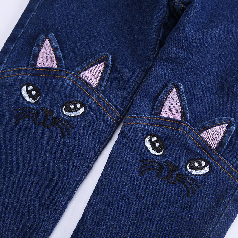 T-spring-autumn-child-cat-character-jeans-girls-pants-baby-jeans-trousers-child-pantalettes-5