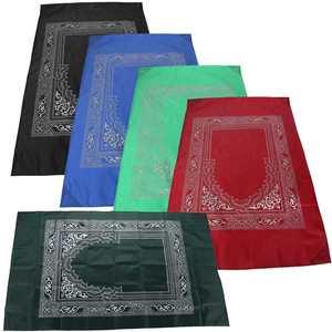 Image 2 - 100x60cm Red Portable Prayer Rug Kneeling Poly Mat for Muslim Islam Waterproof Prayer Mat Carpet Blanket