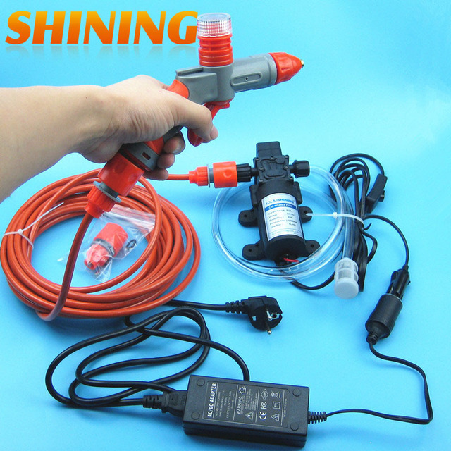 High Pressure Portable Car Washer Machine With Foam Water Gun And