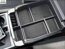 15-18 Пластик аксессуары интерьера центр подлокотник ящик для хранения бардачок лоток контейнер для ford F150 F-150 2015 2016 2017 2018