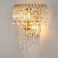 Wand licht kristall k9 kristall leuchte wand leuchte lichter Luxus kristall wand Moderne Chrom/Gold wand lampe Moderne K9 kristall-in LED-Innenwandleuchten aus Licht & Beleuchtung bei