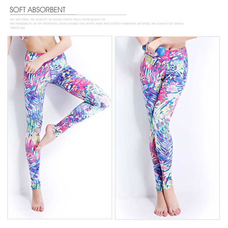 f9ee3f283c Latex Colorful 3D Printed Yoga Pants Quick Dry Push Up Slim Yoga Leggings  Fitness Long Sport Running Tights Women Shop Online