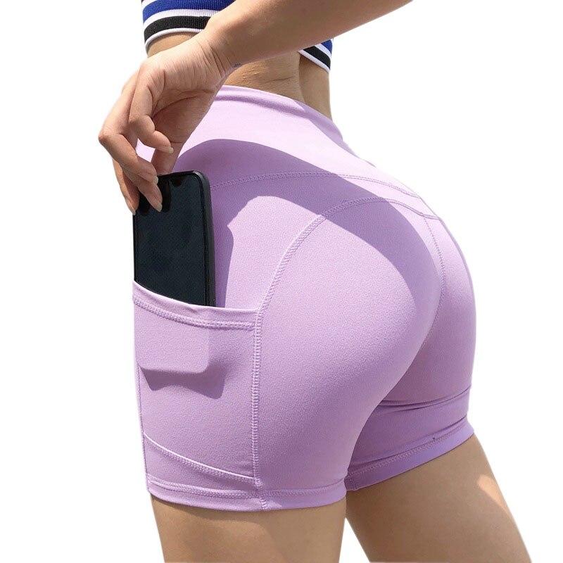 ✔  Большой карман талии бедра Push Up шорты для йоги быстросохнущие стрейч фитнес обтягивающие бедра жи ✔