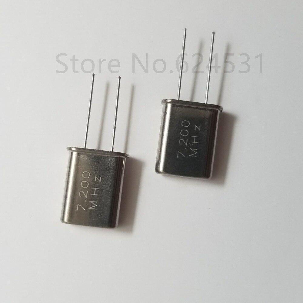 10pcs HC-49U In-Line Passive Quartz Crystal 7.2MHZ 7.200MHZ 7.2M Crystal Resonator
