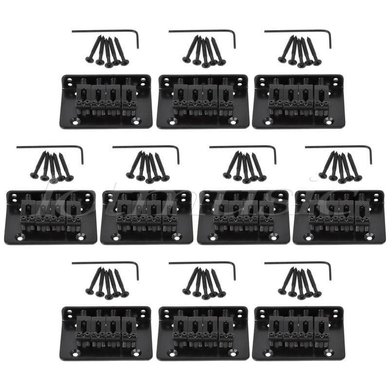 Pont fixe pour 4 cordes mandoline ukulélé boite à cigares guitare 10 set noir