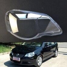 Для Volkswagen VW Polo 2006 2007 2008 2009 2010 прозрачная Автомобильная фара с прозрачными линзами