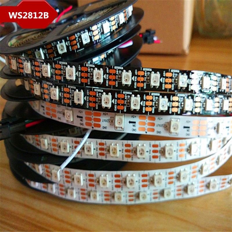 все цены на WS2812 IC 1m-5m WS2812B Smart led pixel strip,Black/White PCB,30/60/144 leds/m;WS2812B/M 30/60/144 pixels,IP30/IP65/IP67 DC5V