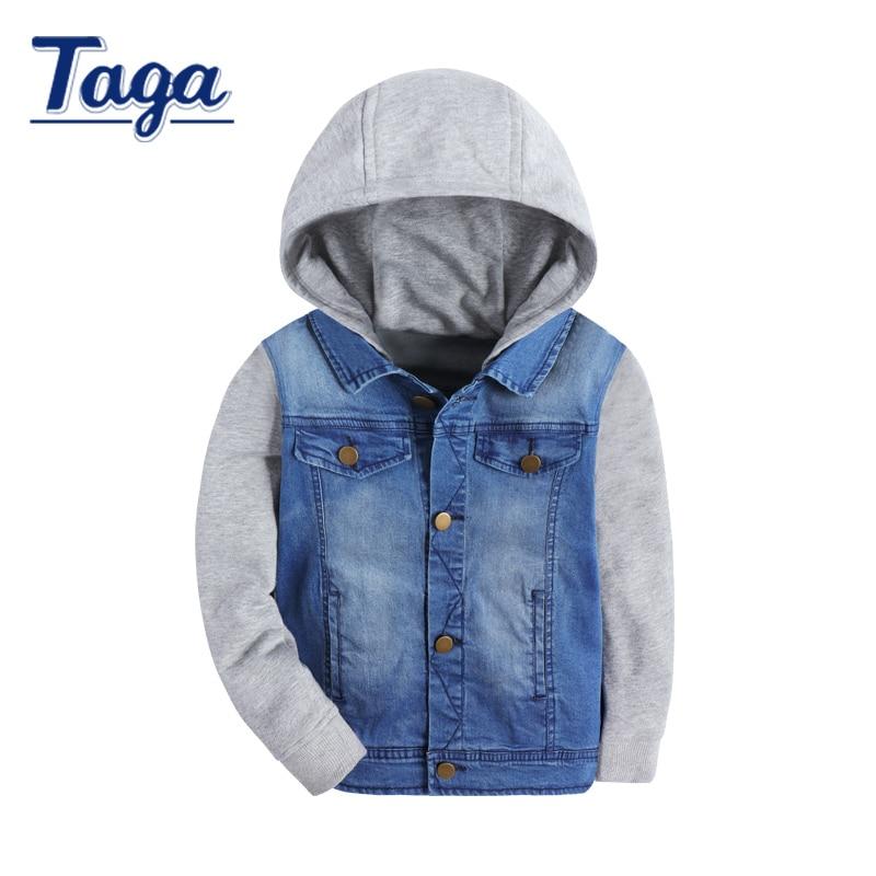 TAGA Autumn and Spring children hoodies long sleeve Jean jackets botton sweatshirt kids boys and girls casual fashion outerwear