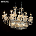 Gorgeous Rectangle Crystal Chandelier Light Fixture 13 Lights Glass Chandelier Lighting Lustre Hanging Dining room drop Lamp