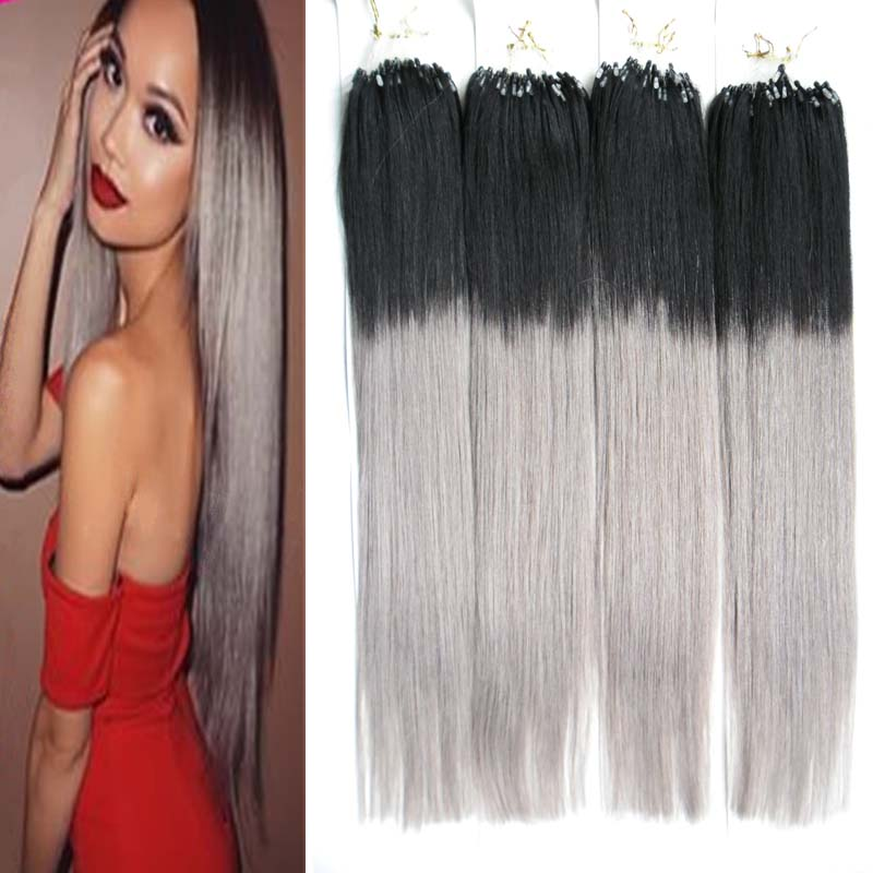 Brazilian double drawn micro loop hair extensions 400g 400s micro brazilian double drawn micro loop hair extensions 400g 400s micro bead hair extensions 1bgray ombre hair extensions micro loop on aliexpress alibaba pmusecretfo Image collections
