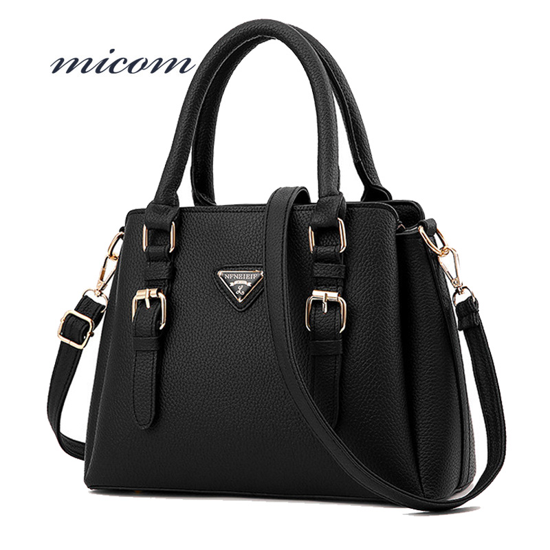Micom Women Retro Small Handbag Fashion Black Pu Leather Tote Bags Famous Designer Brand Shoulder Bags Hot Sale Messenger Bag стоимость