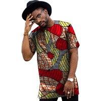 African Print Shirt Men's Dashiki Shirts Short Sleeven Ankara Tops Multi Coloured African Men Clothing Africa Designed Outfit