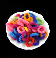 Hot Wholesale 100 Pcs Colorful Child Kids Hair Band Hair Jewelry Rubber Elastics Accessories Charms Tie