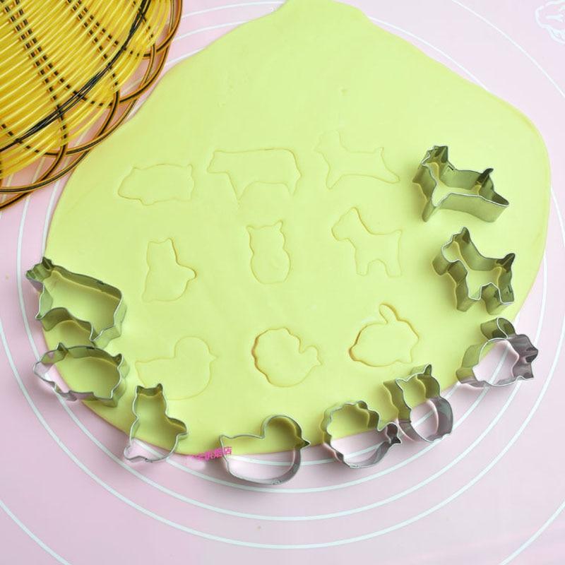 9 Teile/los Tier Design Edelstahl Ausstecher Biskuitform Kuchenwerkzeuge