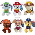 6pcs/lot 13-20cm Puppy Patrol Plush Dolls Skye Marshall Chase Zuma Rocky Rubble Figure Cotton Dog Stuffed Soft Toys