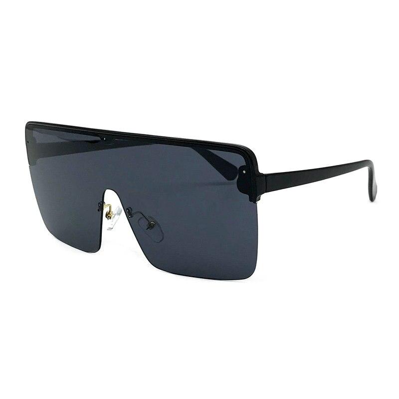 445888a7a2 Detail Feedback Questions about 2019 New Sunglasses Oversize women  sunglasses Large frame Black Sunglasses Wind Men Sun Glasses Retro square  Rimless Glasses ...