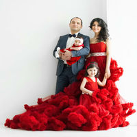 Hand Made Flower Girl Dresses For Wedding Ball Gown Princess Dress Ankle Length Kids Prom Dresses