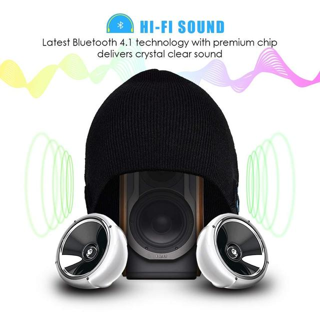 Wireless Headphones Beanie, Music Hat with Built-in Microphone, Fit for Outdoor Sports, Skiing,Running, Skating, Walking