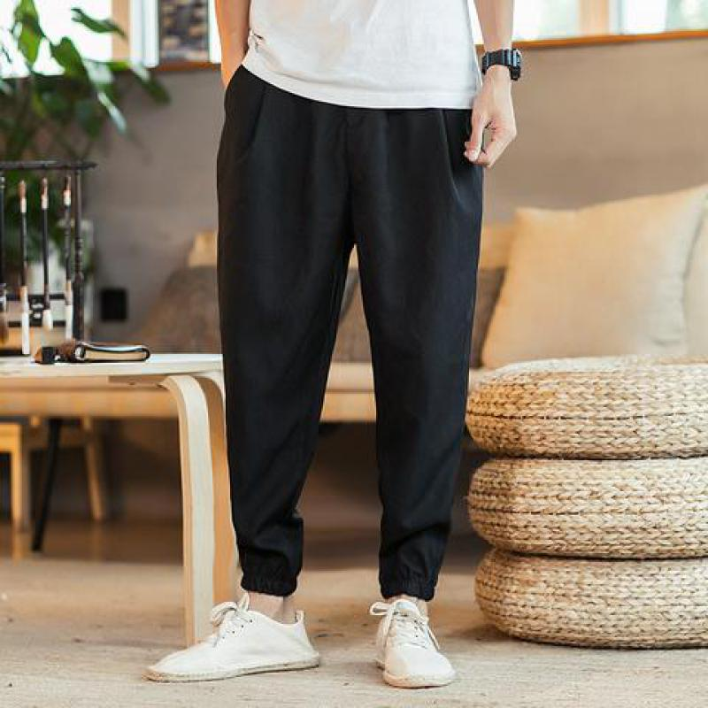 Zeeshant Casual Harem Pants Men Jogger  Elastic Waist Polyester Man Fitness Trousers Male Traditional Chinese Clothing For Men
