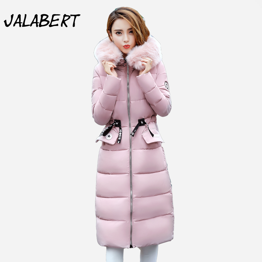 2017 new women cotton long winter jacket thick Slim printing Hooded coat Female fashion warm Adjustable Waist Parkas 2017 winter new cotton coat women long slim thick warm casual hooded badge pattern fashion jacket female fashion parkas