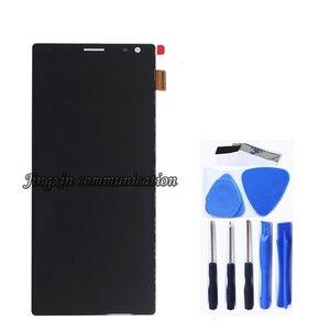 Image 2 - شاشة عرض أصلية 6.5 بوصة لأجهزة Sony Xperia 10 Plus LCD + شاشة لمس محول رقمي بديل لأجهزة Sony 10 plus قطع إصلاح LCD