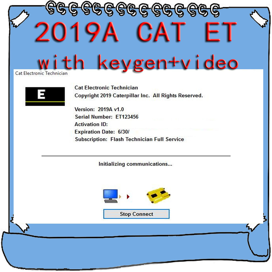 For Caterpillar 2019A Cat ET ET3 Electronic Technician Diagnostic Software with Unlock KeyGen Active Video