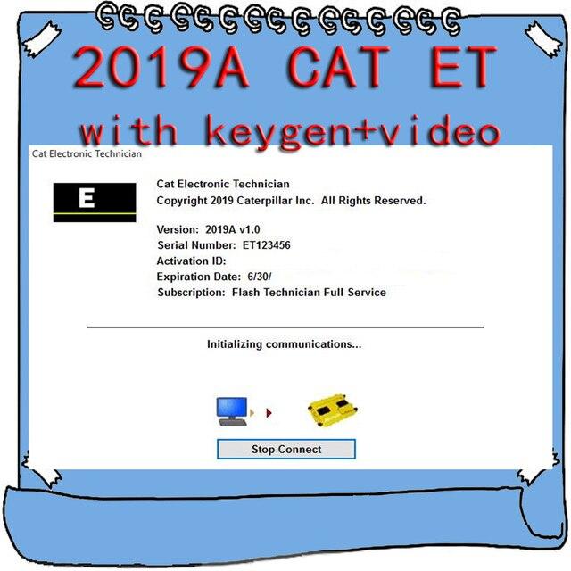 For Caterpillar 2019A Cat ET ET3 Electronic Technician Diagnostic Software with Unlock KeyGen Active + Video