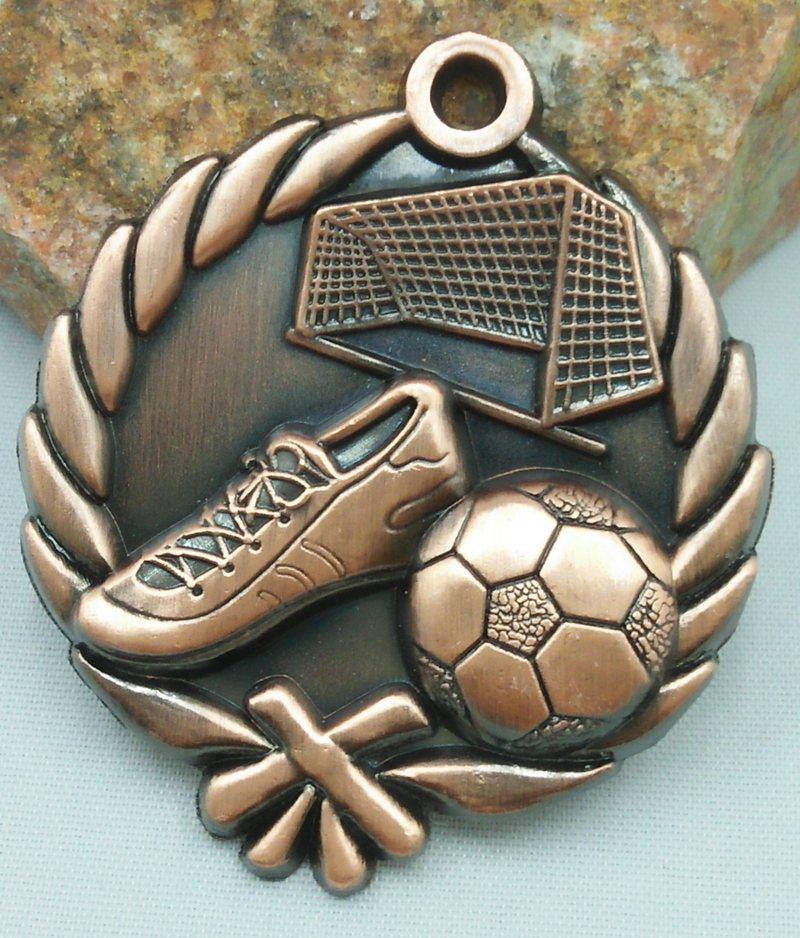 მედალი საბავშვო ბაღის ფეხბურთის სკოლის სპორტის ოქროს ვერცხლისფერი ფეხბურთის მოძრაობის კომუნიკაციის უნარი / თავდაჯერებულობა შემუშავება ლითონი