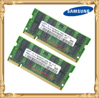 Samsung Laptop Memory 4GB 2x2GB 800MHz PC2 6400 DDR2 Notebook RAM 4G 800 6400S 2G 200