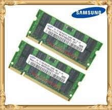Memória do portátil de samsung 4 gb 2x2 gb 800 mhz PC2-6400 ram do caderno ddr2 4g 800 6400 s 2g 200-pino SO-DIMM