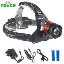 2000Lm 3 Mode Tactical Flashlight Head Cree T6 Cycling Headlamp Zoom Portable Helmet Headlight for Hunitng Backpacking Hiking