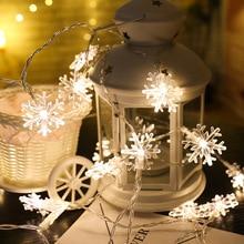 New Year 1.5 M 10-led Lamp Strip Battery Box Snowflake Christmas Decorations for Home Xmas Christmas Tree Decorations Natal. Q