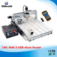 big size CNC Router machine 8060Z-USB 4axis 2.2KW with usb port, cnc woodworking machine