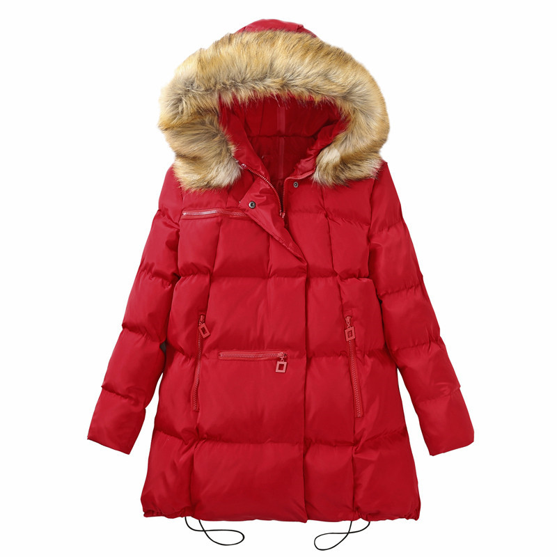 Winter   Parkas   Women Thicken Down Cotton Jacket New Loose Hooded Medium Long Outerwear Plus Size 5XL 6XL Female basic Coat AA936